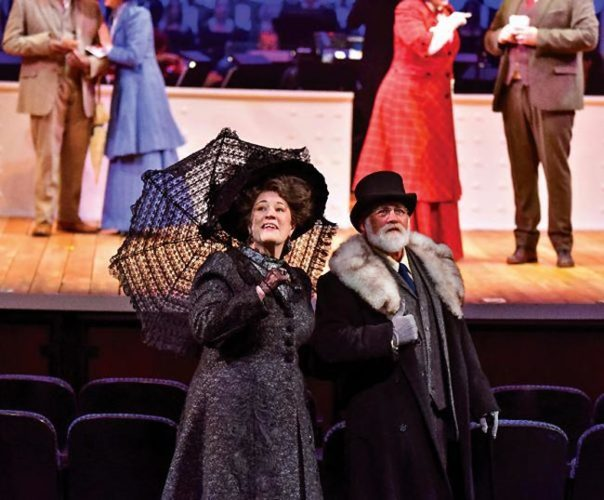 Barbara Fox DeMaio as Ida Straus and Stephen Hilton as Isidor Straus